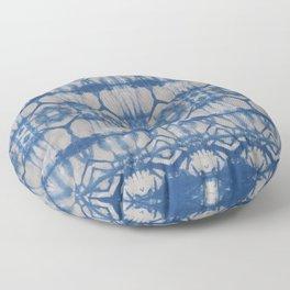 Natural Shibori Flowers Floor Pillow