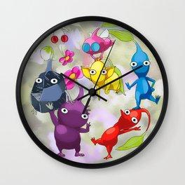 Pikmin World Fanart Wall Clock