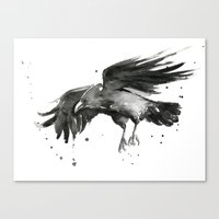 raven Canvas Prints featuring Raven by Olechka