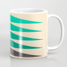 Colorful Turquoise Green Geometric Pattern with Black Accent Coffee Mug