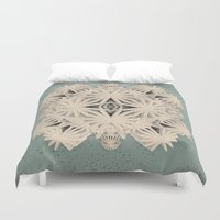 edm Duvet Covers featuring Ancient Calaabachti Filigrane by Obvious Warrior