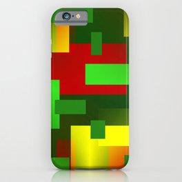 2D pattern greenyellow iPhone Case