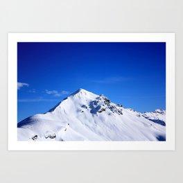 Beautiful view of the South Tyrol mountain peak Art Print