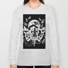 Snakes, Crystals, & A Full Moon Gothic Witchy Long Sleeve T-shirt