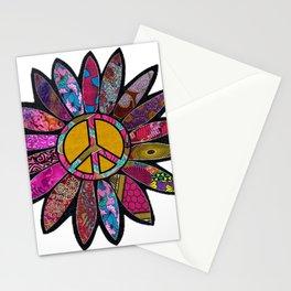 Fuchsia fun peace sign flower Stationery Cards