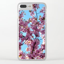 spring pink  blossoms Clear iPhone Case