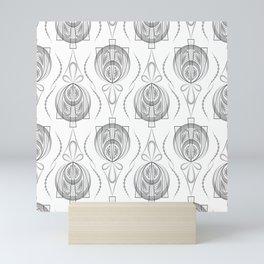 Art Deco 40 . Light Grey background Forever . Mini Art Print