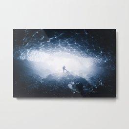 Ice Cave Metal Print
