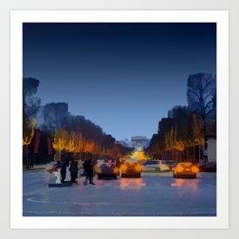 Champs-Elysees Art Print
