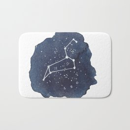 leo constellation zodiac Bath Mat