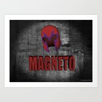 magneto Art Prints featuring Magneto by ZeebraPrint