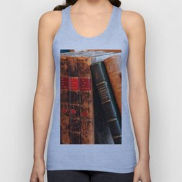 Rustic Antique Library Books Shelf Unisex Tank Top