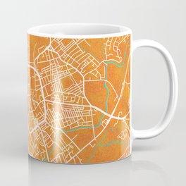 Stoke on Trent, England, Gold, Blue, City, Map Coffee Mug