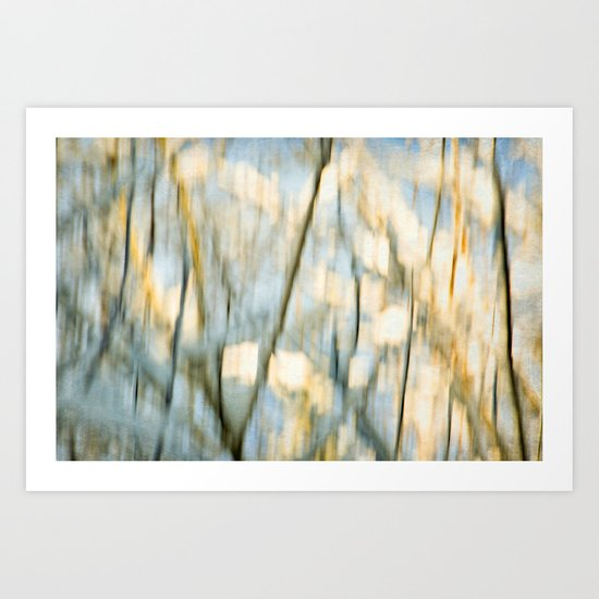 winter tree abstraction Art Print