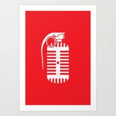 Weapon of Music Explosion Art Print