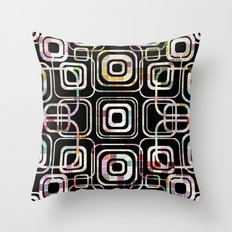 Colorful cube ring Throw Pillow