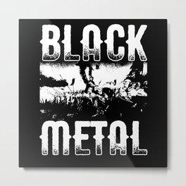 Black Metal Heavy Metal War Metal Print