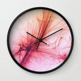 Flames of love fractal art Wall Clock