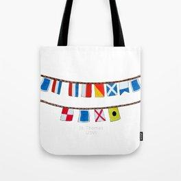 St Thomas Nautical Flags Tote Bag