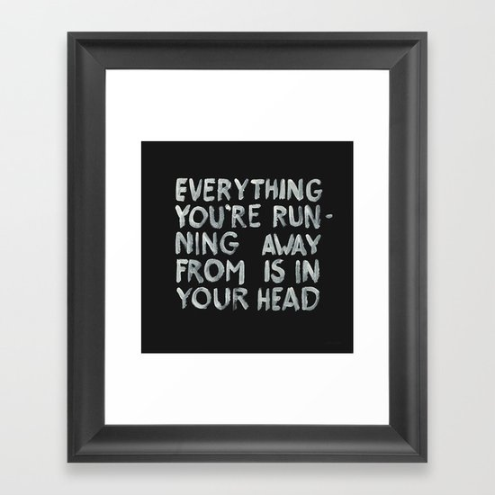 In your head Framed Art Print