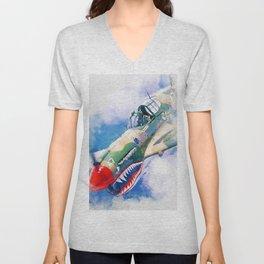 Curtis P-40 Unisex V-Neck