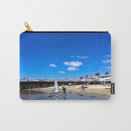 San Diego Beach Boardwalk/Crystal Pier Carry-All Pouch