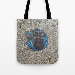 Blue Water Yellow Line Tote Bag
