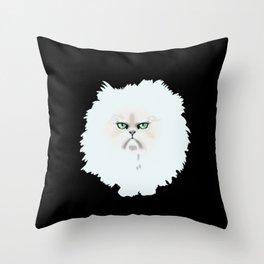 Fluffy nasty cat 2  Throw Pillow