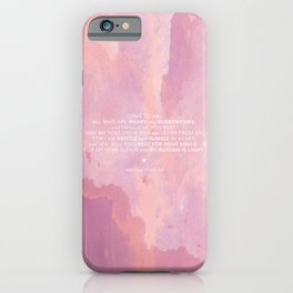 Come To Me | Pink Watercolor Reverse (for Lyndsie Brooker) iPhone Case