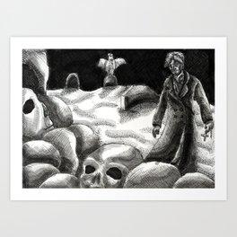 Pile of Bones Art Print
