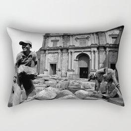 Brickwork (b/w) Rectangular Pillow