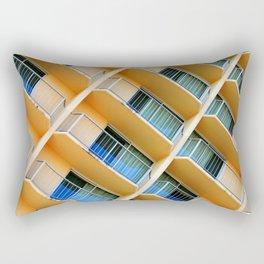 Scratchy Hotel Facade Rectangular Pillow