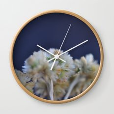 fluffy flower Wall Clock