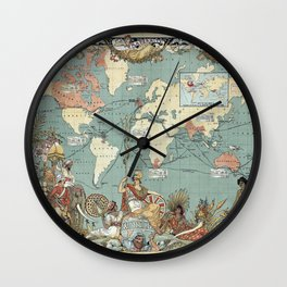 The British Empire 1886 Wall Clock