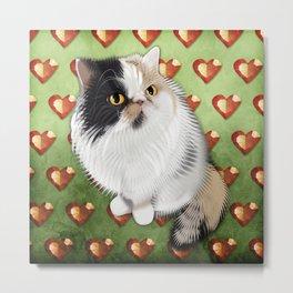 Gem the Diva Cat Metal Print