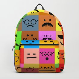 Square Emoji Faces Backpack