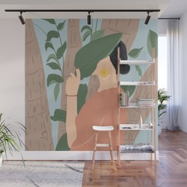 Girl in the forest Wall Mural