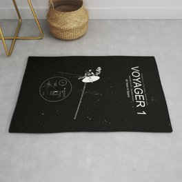 Voyager 1-Humanity's Farthest Spacecraft-40 Years in Space Rug
