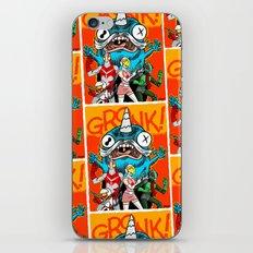 the Cryptid Crew VS Uncle Corny Kaiju iPhone & iPod Skin
