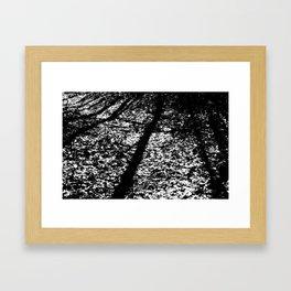 Static Forest Framed Art Print