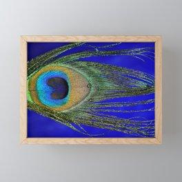 Peacock Feather Macro Framed Mini Art Print