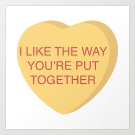 Champ Kind Conversation Heart Art Print