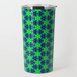 Bubble Pattern in Green Travel Mug