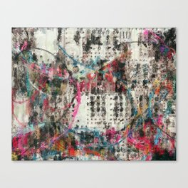 Analog Synthesizer, Abstract painting / illustration Canvas Print