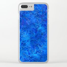 Frozen Leaves 6 Clear iPhone Case