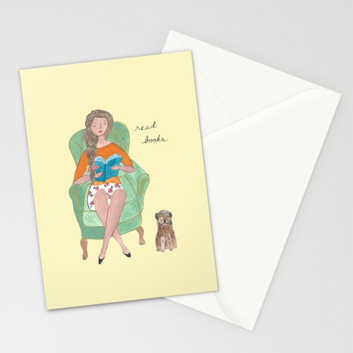 Dear read books  Stationery Cards