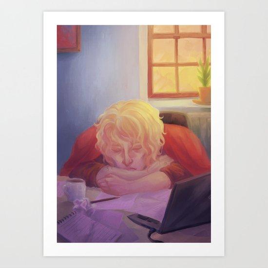 The nap Art Print