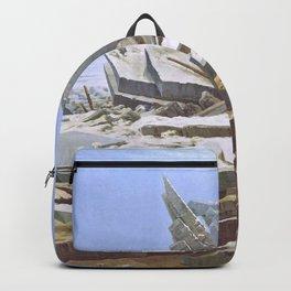 The Sea of Ice - Caspar David Friedrich Backpack