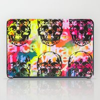ultraviolence iPad Cases featuring Ultraviolence 4i skull - mixed media on canvas by kakin