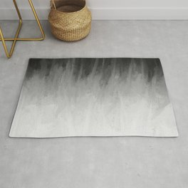 Ice Rays in a Black Sky Rug